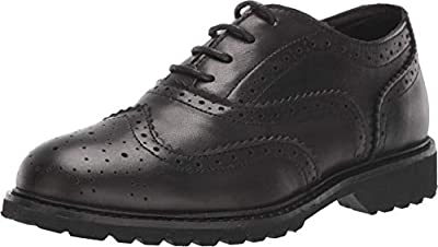 Kenneth Cole REACTION Kids Boy's Wing Brogue Leather (Little Kid/Big Kid)