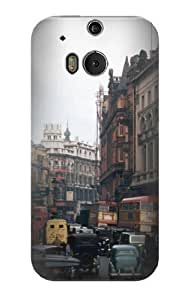 S0180 Old London Vintage Case Cover for HTC ONE M8 BY supermalls