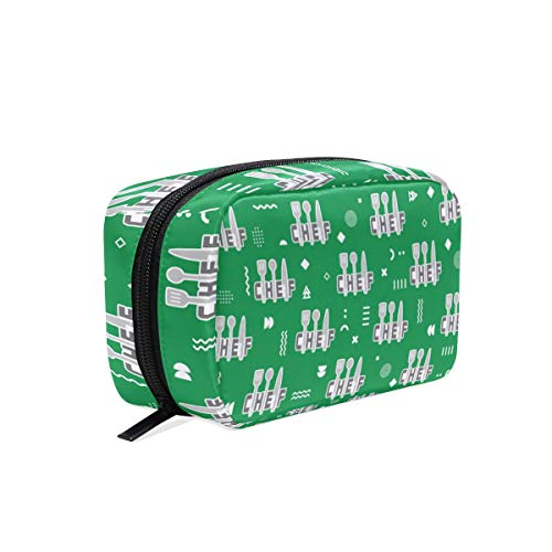 Travel Makeup Pouch Chef Tools Cuisine Food - Cosmetic Bags Organizer Ladies Toiletry Case for Women Girls