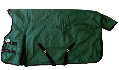 1200D Waterproof Horse Turnout Blanket High Neck Hunter Green, 81