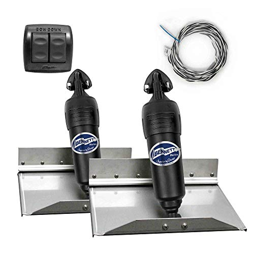 Bennett Complete Kit Bolt Electric Trim Tab Systems (BOLT129) w/Rocker Switch (BRC4000), 12
