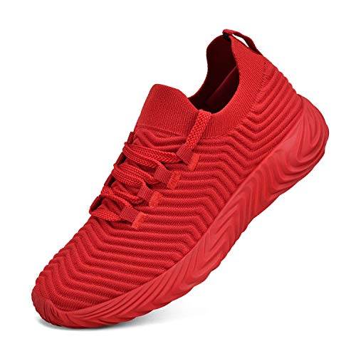 domirica Womens Sneakers Cross Training Shoes Walking Shoes Athletic Shoes Red Size 5.5 (Best Cross Training Sneakers)