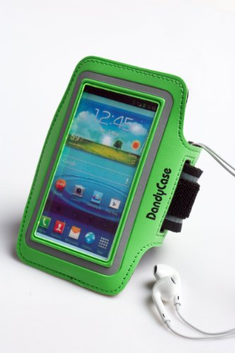 DandyCase Non-Slip Protective Gym Jogging Sports Armband Case Cover for HTC One (Also fits One X, One X+) (Green)