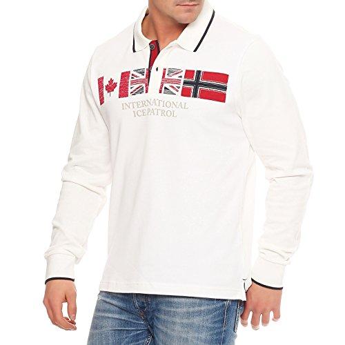 NAPAPIJRI Herren Langarm Poloshirt SMUR EMERSON Off White I029 2te Wahl