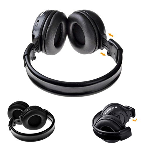 Price comparison product image DZT1968 3.0 Stereo Bluetooth Wireless Headset / Headphones With Call Mic / Microphone (Black)