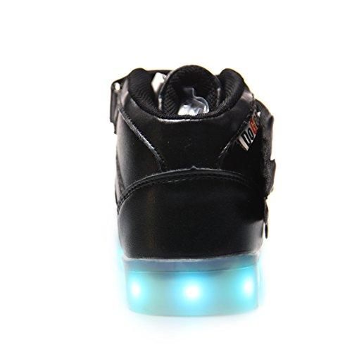 Scarpe Colori con LED USB Sneakers Bright Ali 7 DoGeek Trainners nella Scarpe Suola Scarpe 1black Lampeggiante Luminosi Luci Tennis Luce Bambino con UdBqFqw