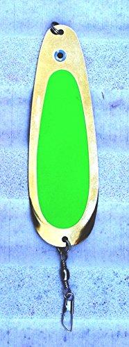 Ultralights Nickel Plate - Montana Tackle Company 4.5-inch Ultralight Trout & Kokanee Trolling Dodger: FLO Green/Brass