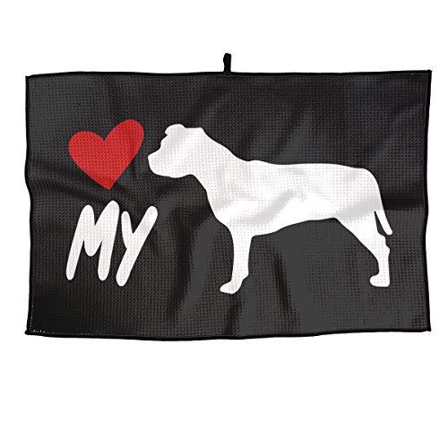 BHSBC.L Love My Pitbull Breathable Golf Towel Quick Dry Microfiber Towel Sports Towel 15