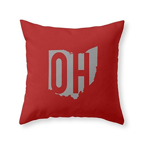 Pillow Printed Ohio Case State - Home Decoration Ohio State Pride Throw Pillow Indoor Cover (18