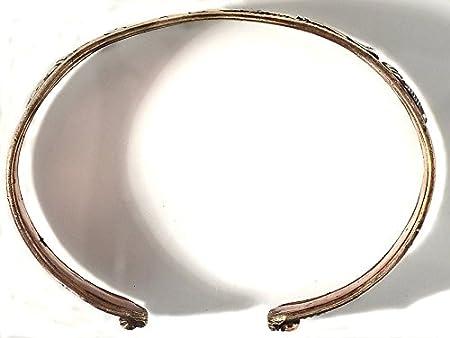 BUDDHAFIGUREN - Buddha Bracelet 15 mm copper with Om mani peme hum Pl2edPlS