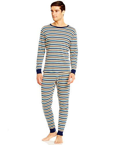 Leveret Mens Multi Striped 2 Piece Pajama Set 100% Cotton X-Small