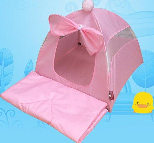 VEA-DE VEA-DE VEA-DE Letto per Animali di Alta qualità, Tenda per Animali Domestici Rimovibili e Lavabili per Animali Domestici con Nido d'uccello Yurt Pet (Tenda rosa + Tappetino) f7bd3b