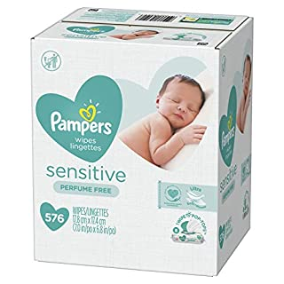 Pampers Pampers Baby Wipes Sensitive Perfume Free 8X pop-top Packs, 576 Count