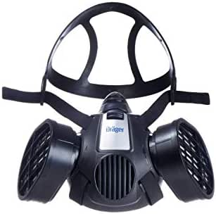 Dräger X-plore 3500 Half-Face Respirator Mask + 2x Multi-Gas Cartridge (OV/AG/HF/FM/CD/AM/MA/HS), NIOSH-Certified, Reusable Professional Respiratory Protection Kit