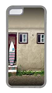 Apple iPhone 5C Case Cover - House And A Surf Board Custom PC Case Cover For iPhone 5C - Tranparent