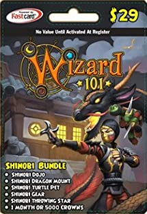 Wizard 101 Shinobi Bundle Prepaid Game Card     - Amazon com