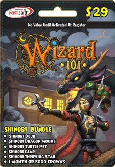 SHOPUS | Wizard 101 Shinobi Bundle Prepaid Game Card