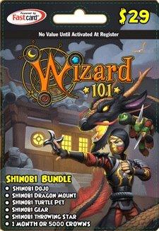 Wizard 101 Shinobi Bundle Prepaid Game Card (Card Wizard)