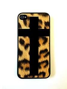 Black Cross on Leopard Skin iphone 5s Case - For iphone 5s - Designer TPU Cas...