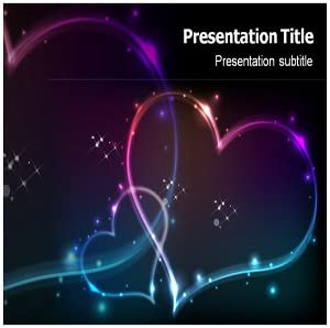 Amazon Com Stars And Hearts Powerpoint Template Stars