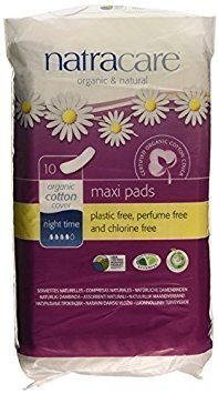 Natracare Natural Pads, Extra Long, Night Time,  10 Count Boxes (Pack of 12) by NATRACARE