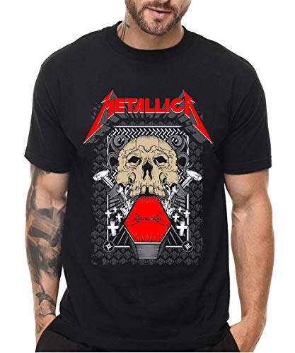 Mens Metallica !! Unisex T-Shirt Metallica Metal Rock Band Logo Black (Metallica Master Of Puppets Box Set Release Date)