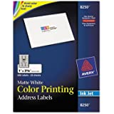 Inkjet Labels for Color Printing 1 x 25/8 Matte White 600/Pack
