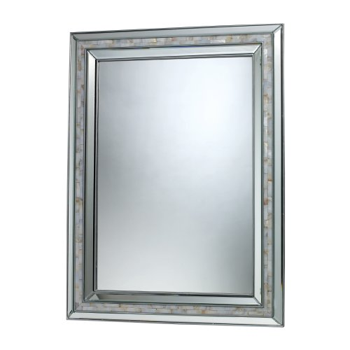 Sterling Sardis Mirror, Brushed - Bathroom Mother Framed Of Pearl Mirrors
