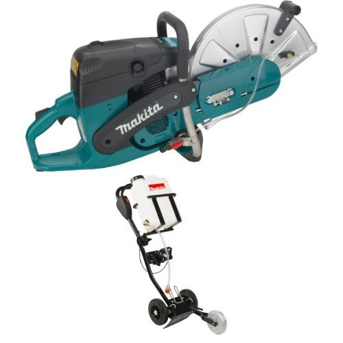 Makita EK7301 14-Inch 73 cc Power Cutter DT2010 Power Cutter Dolly with 4.2 Gallon Water Tank