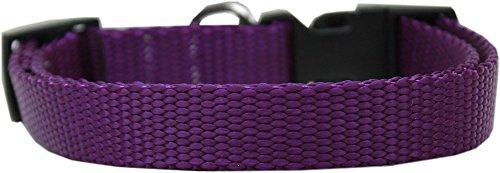 Mirage Pet Products Plain Nylon Dog Collar, Medium, Purple