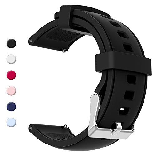 20mm, 22mm Quick Release Soft Silicone Watch Band Anti-Allergic Replacement Strap (Wrist Rubber Band Watch)