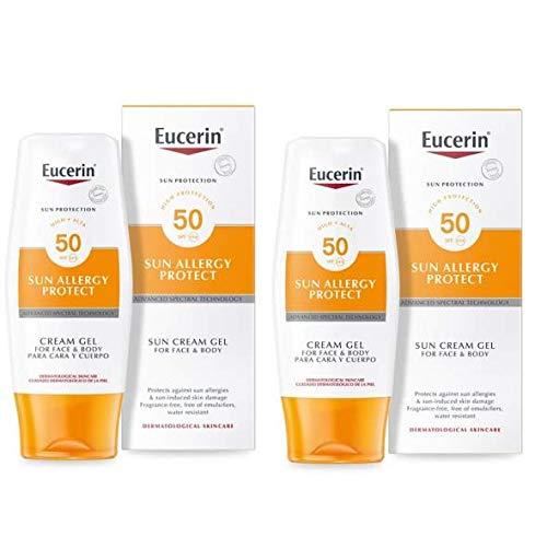 Eucerin Sun Allergy Protection Creme-Gel Spf50 - Pack of 2 (Best Sun Cream For Sun Allergy)