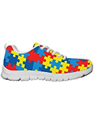 Gnarly Tees Womens Autism Awareness Sneakers