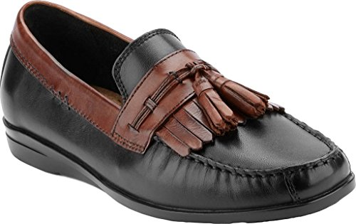 Havenarbeiders Heren Hardsteen Slip-on Loafer Zwart Bruin