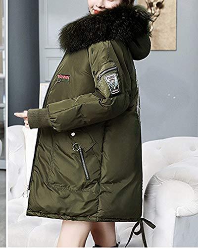 Mujer De Suelto Con Abrigo Capucha Qitunc Chaqueta Ejército Parka qBII8wz