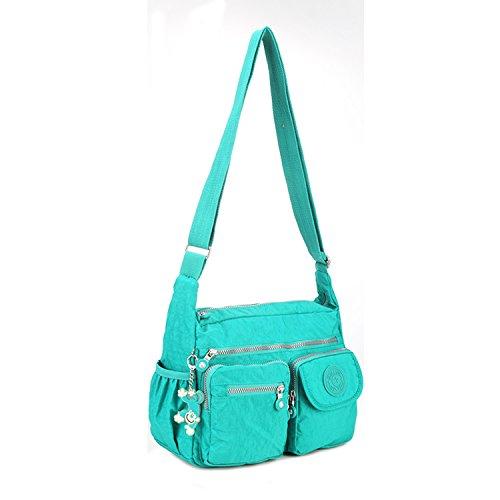 Body Side Bag 2 Bookbag Travel Women Fashion Sport Cross Messenger For Casual Pack Foino Green Shoulder Crossbody Tablet EqCB1nvx1w