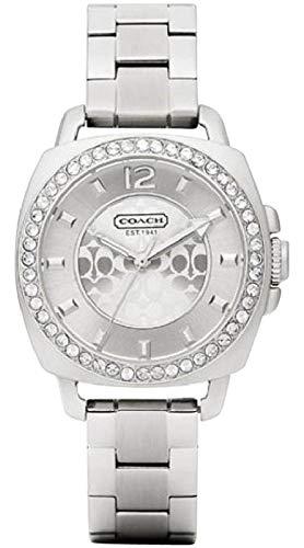coach boyfriend bracelet watch silver