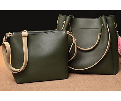1 Handbag Top Seaweed 2 JeHouze Purse Fashion Handle Leather in Shoulder Genuine Women w4xEROpq