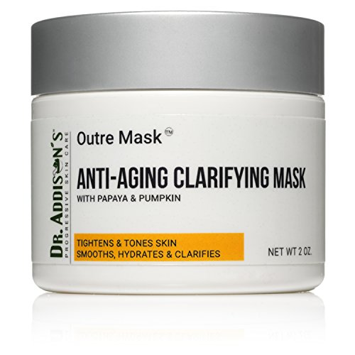 Facial Mask. Dr. Addison's Outre Mask. Anti Aging Clarifying Mask with Papaya & Pumpkin | Moisturizing Face Mask with Skin Tightening, Skin Toning, & Skin Clarifying Effects | 2.0 fl oz (Moisturizing Pumpkin)