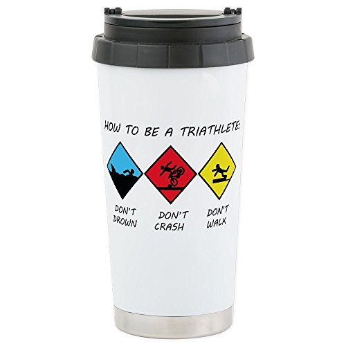 CafePress - Triathlete Stainless Steel Travel Mug - Stainless Steel Travel Mug,...