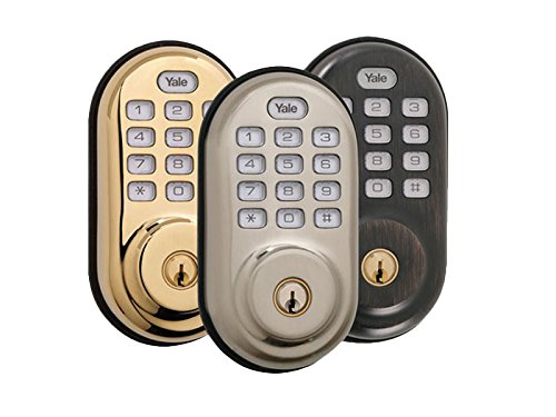 Yale ZWave Deadbolt YRD210ZW With Push Button Pad Nickel