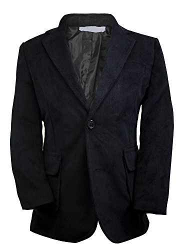 Luca Gabriel Toddler Boys' Black Single Breasted Corduroy Blazer Jacket - Size 12 ()