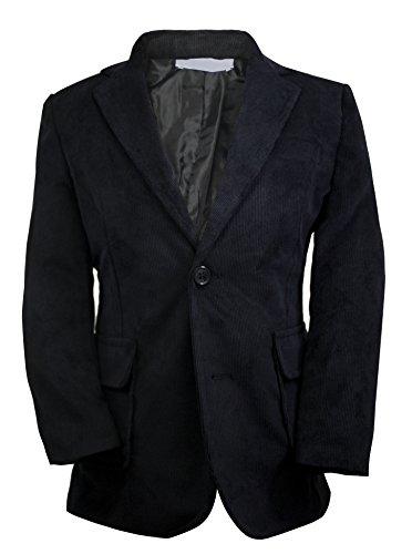 Luca Gabriel Toddler Boys' Black Single Breasted Corduroy Blazer Jacket - Size (Boys Corduroy Blazer)