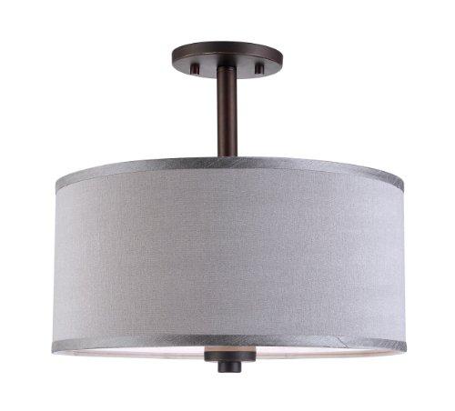 13435MEB-S11502 Semi Flush Mount, Metallic Bronze, Grey ()