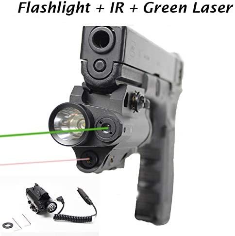 Sniper Flashlight with IR and Green Laser Combo fit 20mm Mount