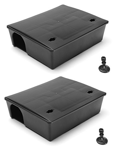Vectortrap Compact Rat Bait Station TWIN PACK (Bait Not Included) - B100 x 2 - Made in Europe