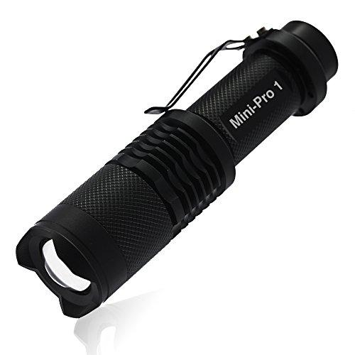 SOLARAY MINI-PRO 1 - Bright Tactical LED 3 Mode Zoom Lens Flashlight with Zoom Lens