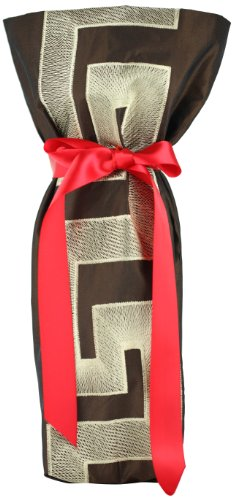 chc-beverly-hills-versace-high-end-wine-champagne-fabric-gift-bag-brown-gold-and-red-ribbon-one-size