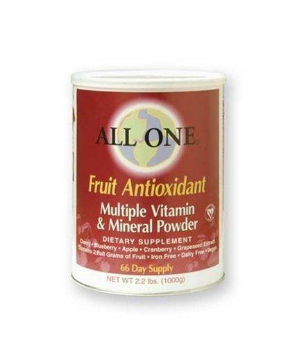Tous les vitamines One poudre multiples et minéraux, Formule antioxydante des fruits, 2,2 kg peut