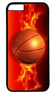 Basketball On Fire Masterpiece Limited Design Case for iPhone 6 PC Black by Cases & Mousepads